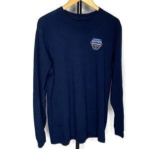 Patagonia Navy Blue Long Sleeve Logo T Shirt